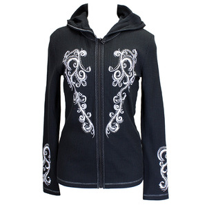 Filigree Wing Hooded Waffle Full Zip picture