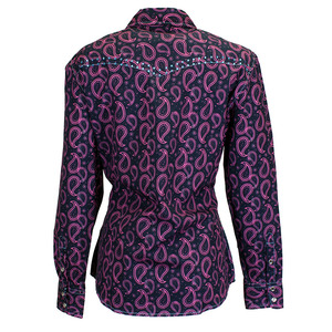 Two Tone Paisley Long Sleeve Print picture