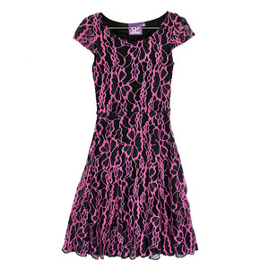 Youth Cap Sleeve Lace Dress picture