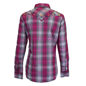 Floral Emb Long Sleeve Plaid picture