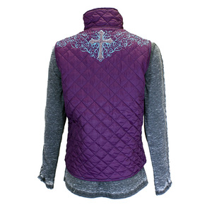 Simple Cross Quilted Vest picture