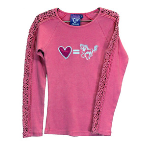 Toddler Luv Equals 2X2 Long Sleeve Lace Arm picture
