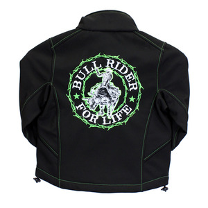 Youth Bull Rider For Life Poly Shell Jacket picture