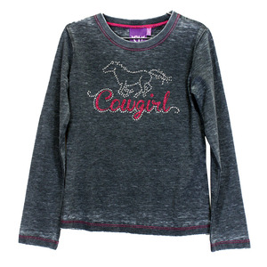 Toddler Glitter Horse Long Sleeve Crew Neck picture