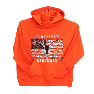 Youth HUNTERS Hardware Camo Skull Flag Pullover picture