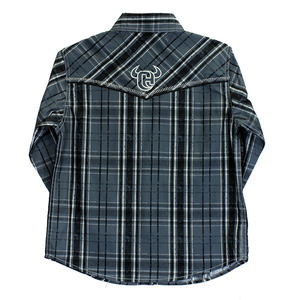 Youth Distressed Long Sleeve Plaid picture