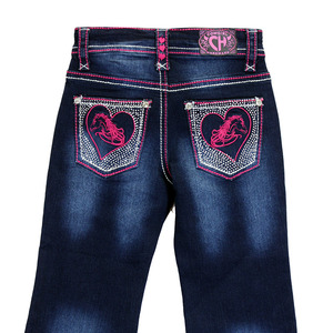 Infant/ Toddler Girls Horse Heart Jean picture