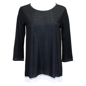 Lace Trim Long Sleeve Tunic picture