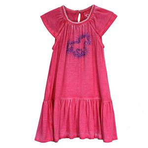Infant & Toddler Dip Dyed Sparkle Horse Cap Sleeve Dress picture