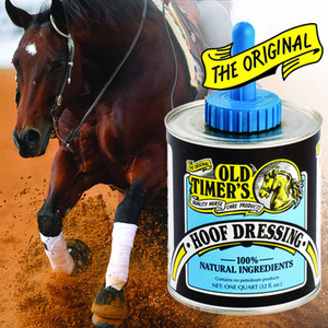 Old Timer's Hoof Dressing with Brush 32 oz picture