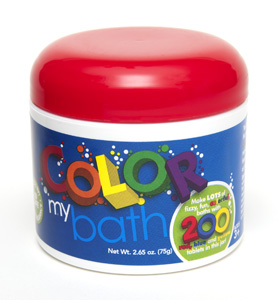 Color My Bath short, block label • 200 Tablets • picture