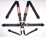 6PT SFI 16.1 LATCH & LINK PRO SMALL BUCKLE HARNESS SET BLACK