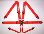 6PT SFI 16.1 LATCH & LINK PRO SMALL BUCKLE HARNESS SET RED