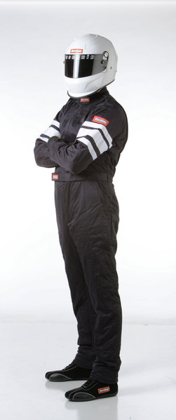RaceQuip 120006 120 Series X-Large Black SFI 3.2A//1 Multi-Layer One-Piece Driving Suit