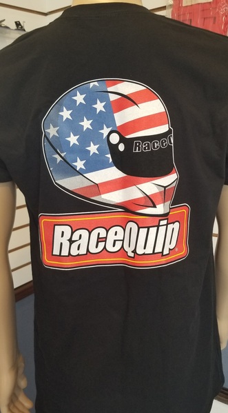 RACEQUIP TV T-SHIRT - MENS BLACK LARGE picture