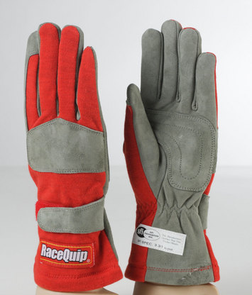 1-LYR SFI-1 GLOVE LRG RED picture