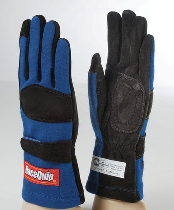 2-LYR SFI-5 GLOVE LRG BLUE picture