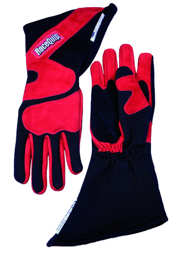 2-LYR SFI-5 GLOVE X-LARGE RED ANGLE CUT LONG GAUNTLET picture