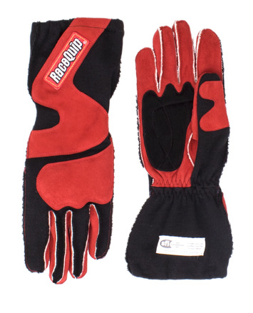 2-LYR SFI-5 GLOVE SMALL RED OUTSEAM WITH CUFF picture