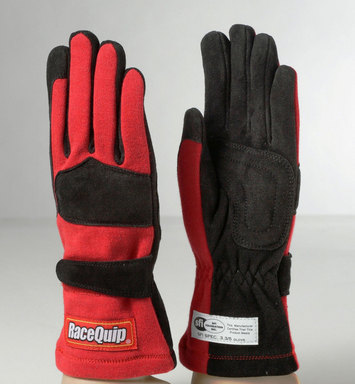 2-LYR SFI-5 GLOVE LRG RED picture