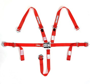 JR L & L 5PT HARNESS SET RED picture