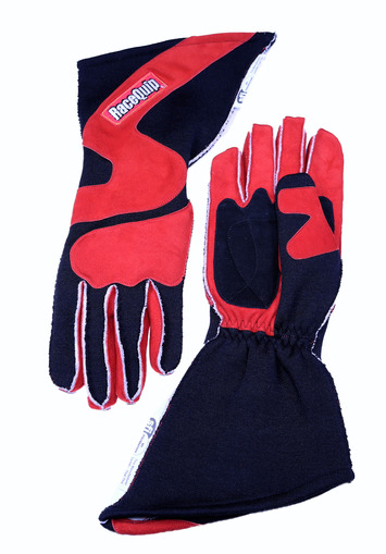 2-LYR SFI-5 GLOVE MEDIUM RED OUTSEAM ANGLE CUT GAUNTLET picture