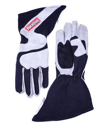 2-LYR SFI-5 GLOVE X-LARGE BLACK OUTSEAM ANGLE CUT GAUNTLET picture