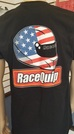 RACEQUIP TV T-SHIRT - MENS BLACK LARGE