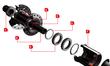 2016 4ZA Cirrus Pro C45 Clincher Wheelset - Black/White additional picture 2