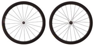 2016 4ZA Cirrus Pro C45 Clincher Wheelset - Black/Black picture