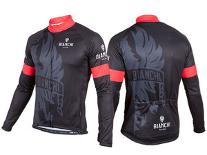 Bianchi-Milano Sorisole LS Jersey - Black/Red picture