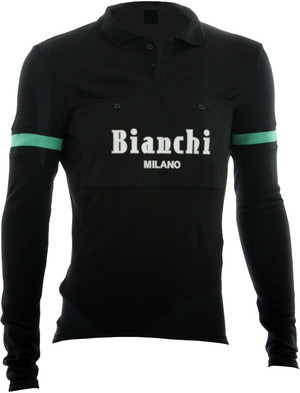 Bianchi-Milano Camastra LS Jersey Black picture