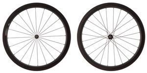 2016 4ZA Cirrus Pro T45 Tubular Wheelset - Black/Black picture