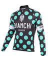 Bianchi-Milano Celeste Polka Dot LS Jersey (LEGGENDA1)