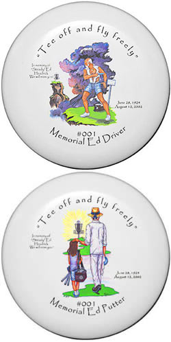 &#8220;Steady&#8221; Ed Headrick Limited Last Flight Memorial Disc Golf Driver and Putter Set picture