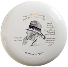 """Steady"" Ed Headrick Limited Run ""Lines of Headrick Memorial Freestyle Disc"" picture"