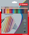 STABILOaquacolor, aquarellable coloured pencil, wallet of 24 colours