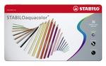 STABILOaquacolor, aquarellable coloured pencil, metal box of 36 colours