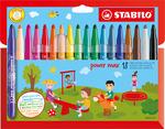 STABILO power max fibre-tip pen cardboard wallet of 18 colours