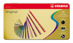 STABILO Original Metal Box of 12 assorted
