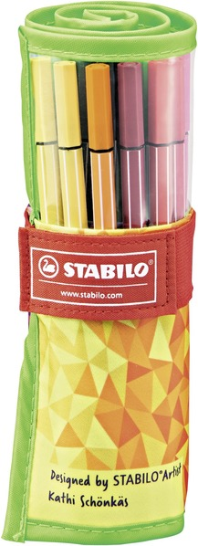 STABILO Pen 68 premium fibre-tip pen - rollerset of 25 colours fan limited edition picture