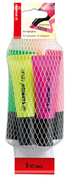 STABILO NEON highlighter - net of 5 colours (all colours) picture