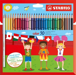 STABILO color, coloured pencil, cardboard wallet of 30 colours picture