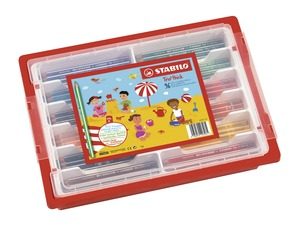 STABILO Trio Thick Classpack of 96 Assorted Colours picture