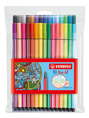 STABILO Pen 68 Wallet of 30 Assorted Including 6 Neon picture