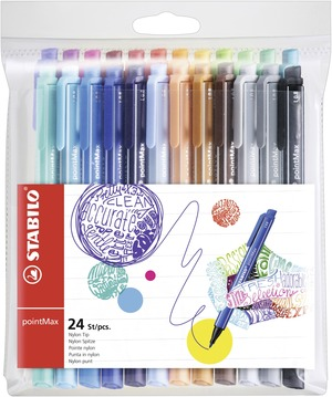 STABILO pointMAX premium fineliner - wallet of 24 colours picture