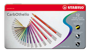 STABILO Carbothello Metal Box of 12 Assorted picture
