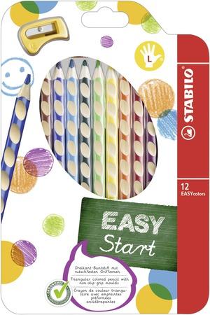 STABILO EASYcolors ergonomic coloured pencil left handed - wallet of 12 colours picture
