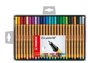 STABILO point 88 Fineliner wallet of 25 colours picture