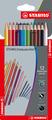 STABILOaquacolor, aquarellable coloured pencil, wallet of 12 colours